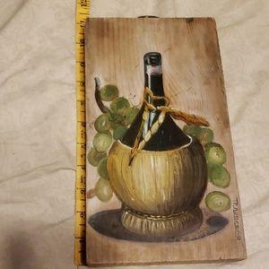 Bottle of wine artwork